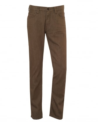 Mens J15 Jeans, Classic Reg Fit Beige Denim
