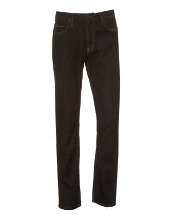 Mens J15 Jeans, Classic Regular Fit Brown Denim