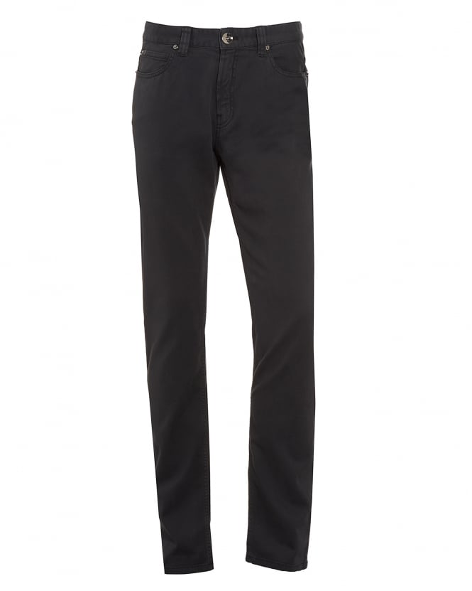 Armani Collezioni Mens Jeans, Charcoal Grey Slim Fit Chinos