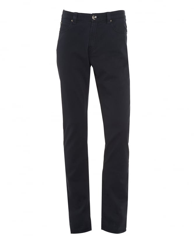 Armani Collezioni Mens Jeans, Navy Blue Slim Fit Chinos