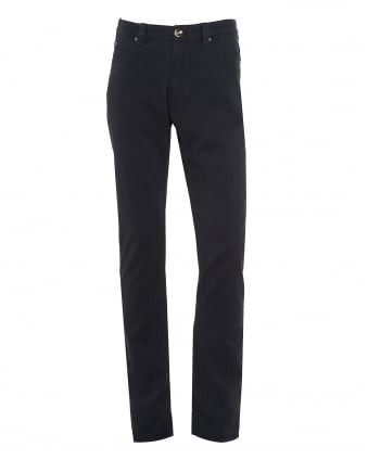 Mens Jeans, Navy Blue Slim Fit Chinos