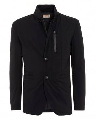 Mens Military Blazer, Lightweight Navy Blue Jacket
