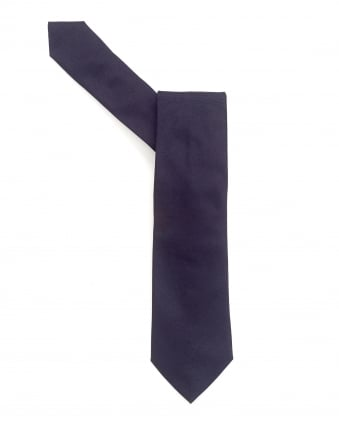 Mens Tie, Plain Navy Blue Textured Silk Tie