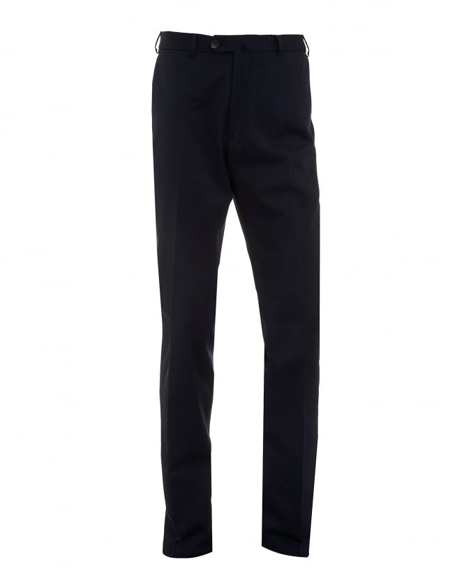 Armani Collezioni Mens Trousers, Navy Blue Cotton Trousers