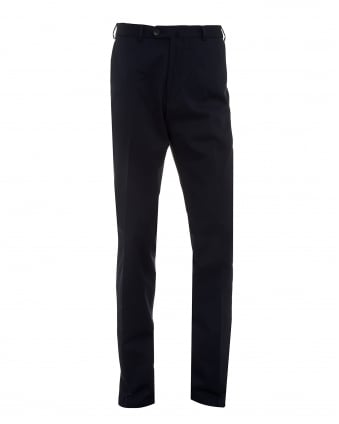 Mens Trousers, Navy Blue Cotton Trousers