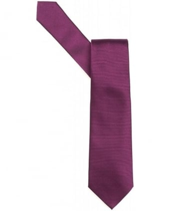 Purple Plain Silk Tie
