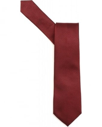 Red Micro Stitch Textured Tie