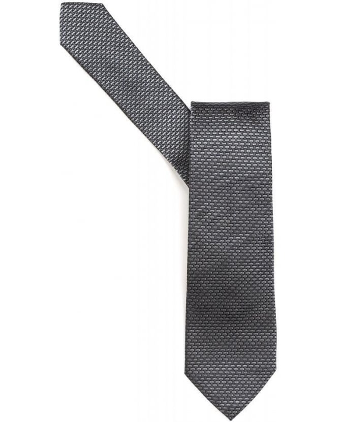 Armani Collezioni Tie Grey Mini Bricks Silk Tie