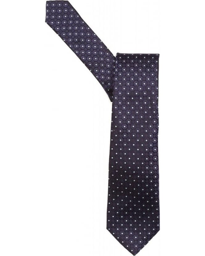 Armani Collezioni Tie Navy Blue Micro Patterned Silk Tie