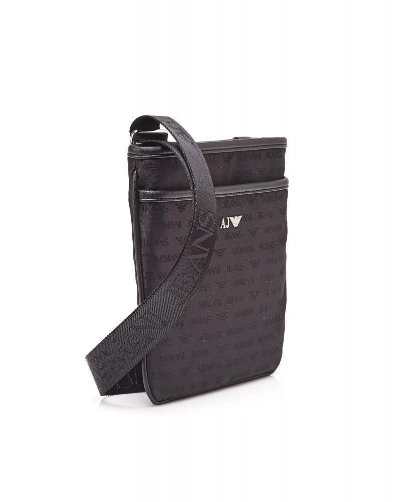 Popular Armani Jeans Logo Messenger Bag, Black Stash Bag XD86