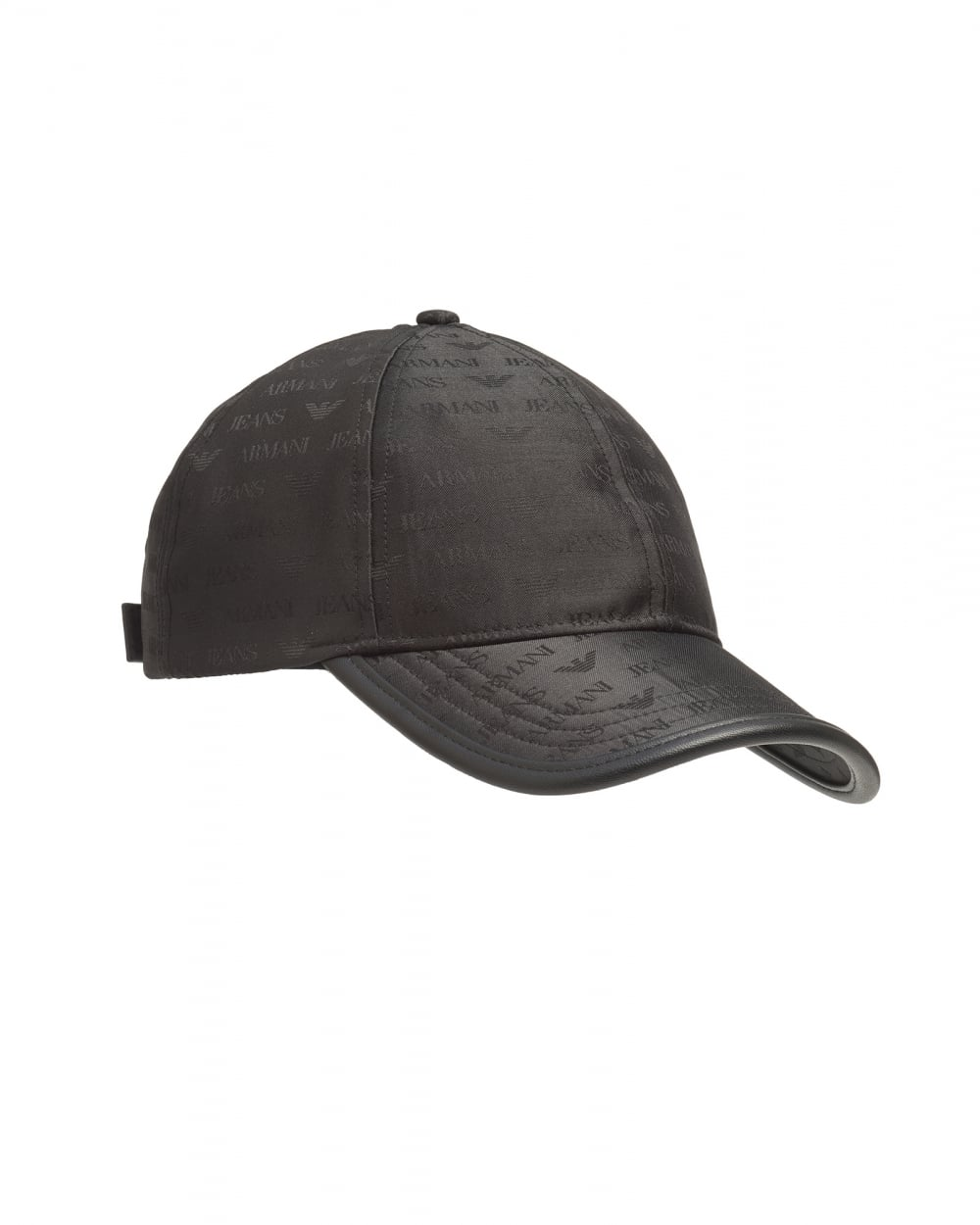 7a3aa9292be Armani Jeans Mens All Over Logo Black Adjustable Baseball Cap