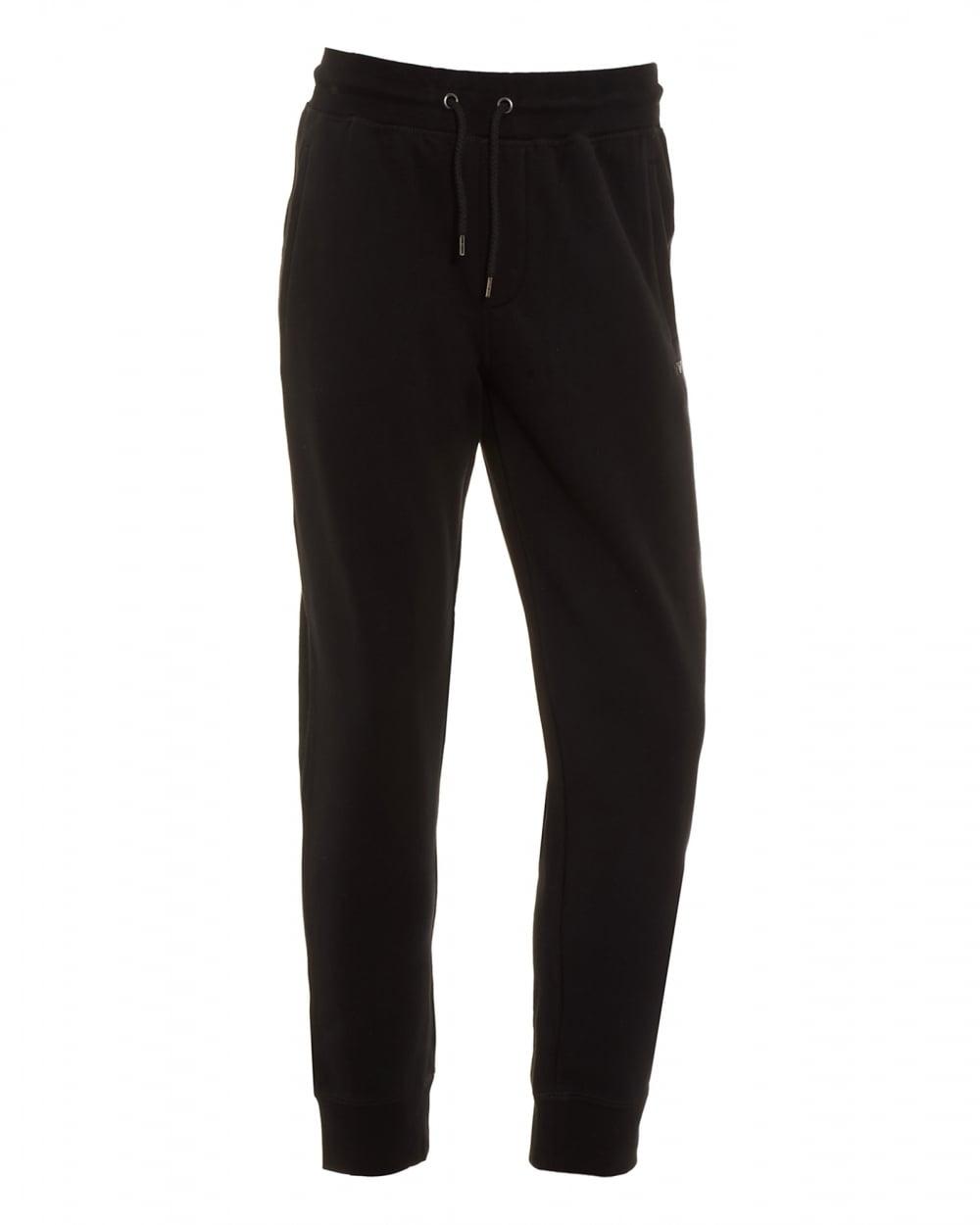 3c892fb44393 Armani Jeans Mens Basic Black Cuffed Trackpant