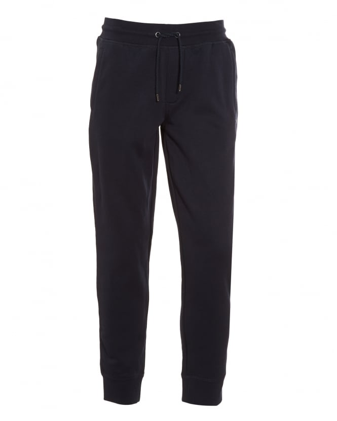 Armani Jeans Mens Basic Navy Blue Cuffed Track Pant