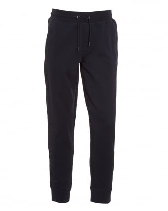 Mens Basic Navy Blue Cuffed Track Pant