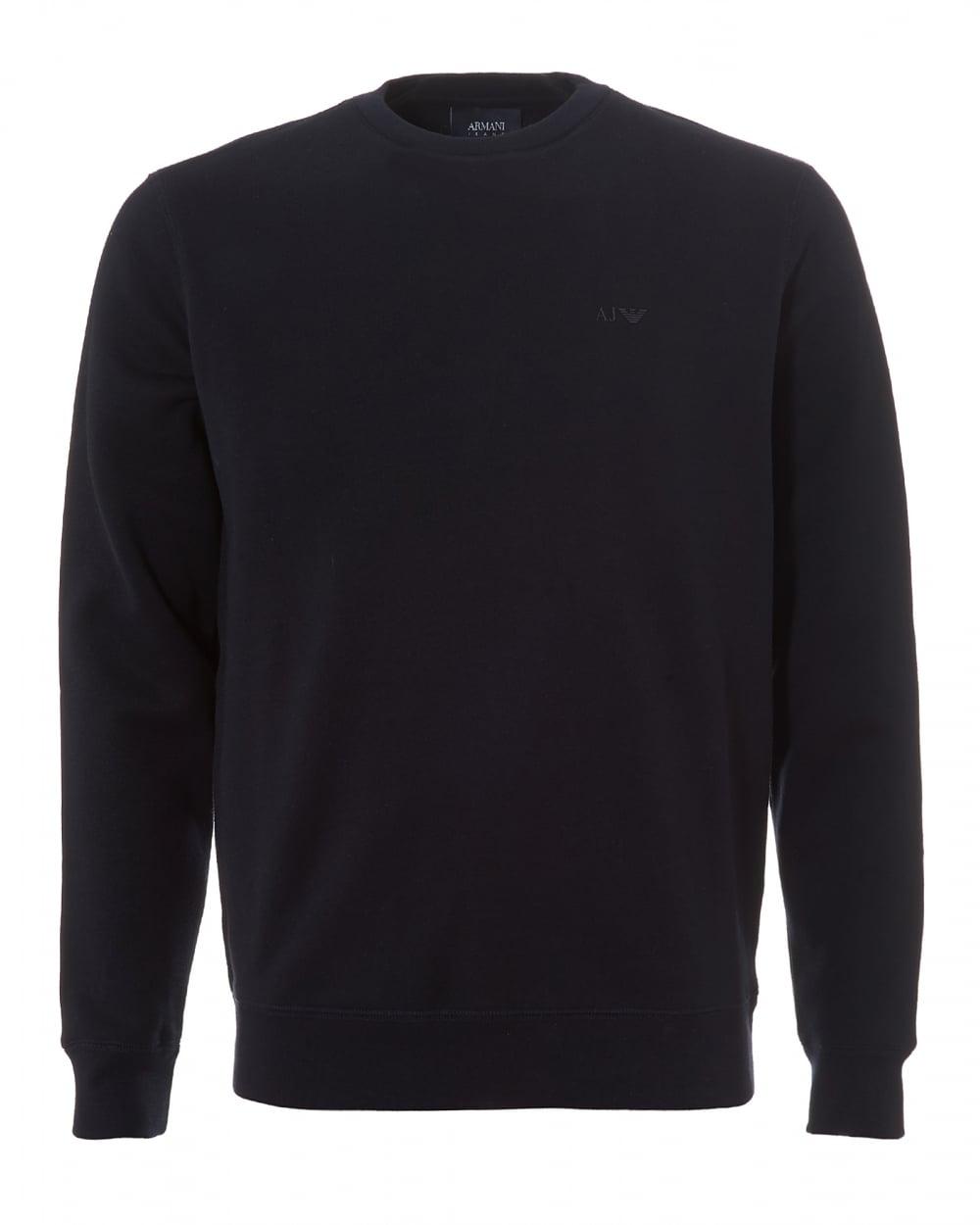 Armani Jeans Mens Basic Sweatshirt Crew Neck Navy Blue Jumper