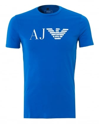 Mens Bluette T-Shirt, Regular Fit Large Eagle Logo Tee