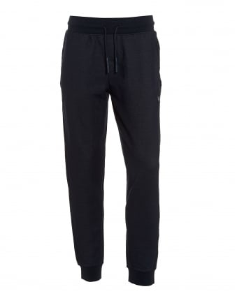 Mens Denim Look Trackpants, Cuffed Navy Sweatpants