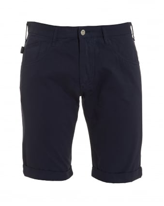 Mens Five Pocket Regular Slim Fit Navy Blue Shorts