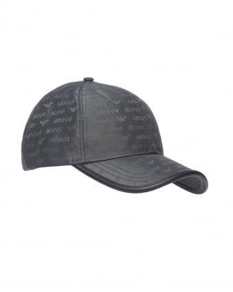Mens Hat, Grey Logo Baseball Cap