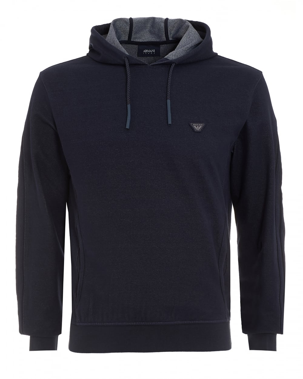 Armani Jeans Mens Hoodie Denim Effect Hooded Sweatshirt