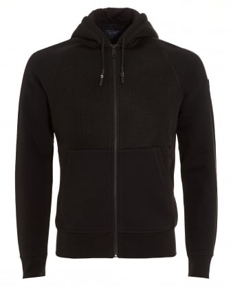 Mens Hoodie, Neoprene Mesh Panel Hooded Sweatshirt