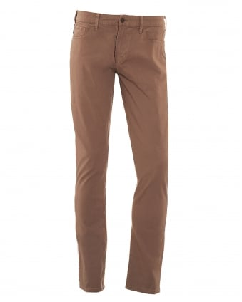 Mens J06 Jeans, Light Brown Slim Fit Denim