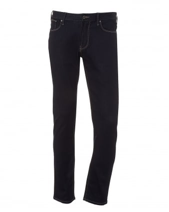 Mens J06 Jeans, Slim Fit Dark Clean Denim