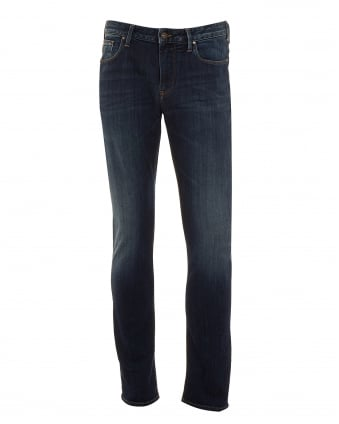 Mens J06 Jeans, Slim Fit Mid Fade Vintage Denim
