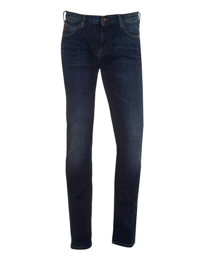 Mens J10 Jeans, Extra Slim Fit Dark Cross Denim