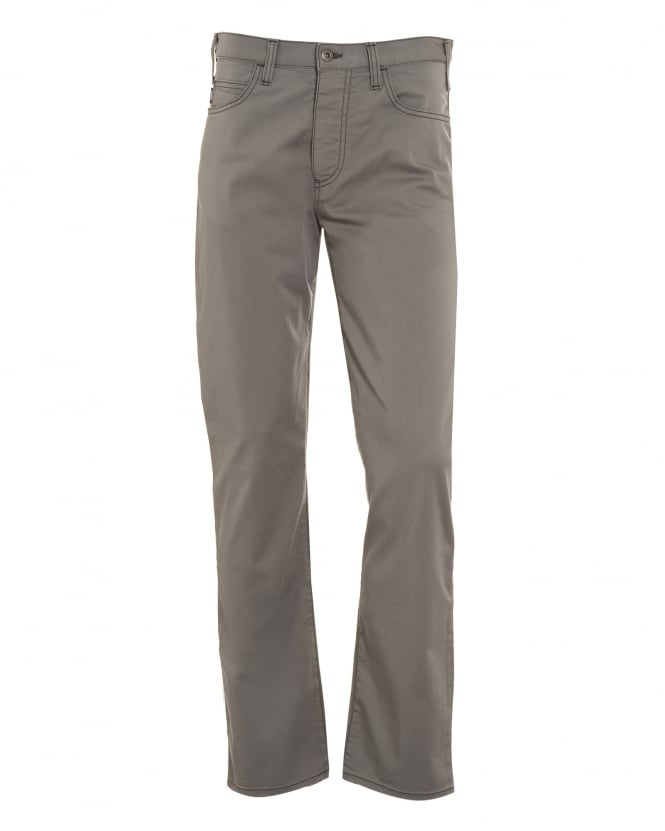 Armani Jeans Mens J21 Grey Stretch Gabardine Jeans