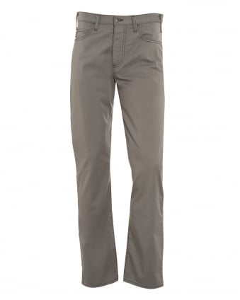 Mens J21 Grey Stretch Gabardine Jeans