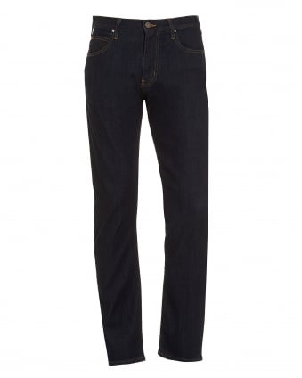 Mens J45 Jean, Slim Gold Stitch Dark Clean Denim