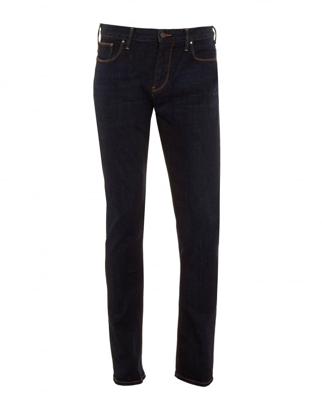 Armani Jeans Mens Jeans, Dark Slim Fit Stretch Denim
