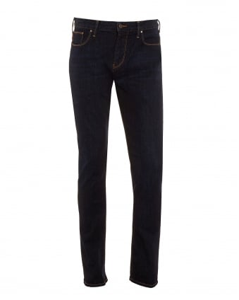 Mens Jeans, Dark Slim Fit Stretch Denim