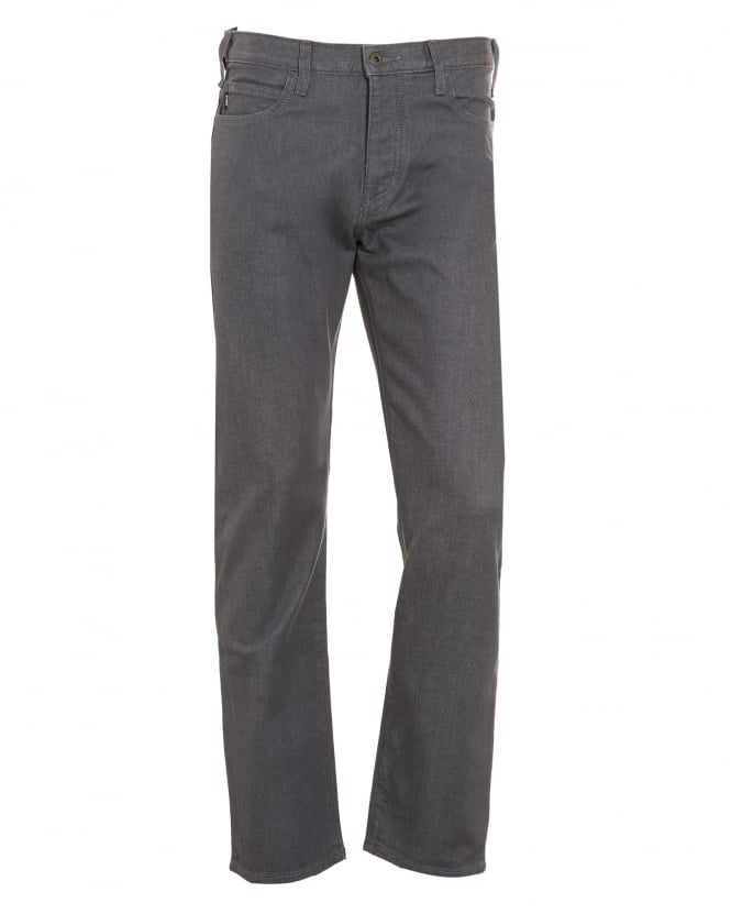 Armani Jeans Mens Jeans, Tonal Mid-Rise Grey Wash Denim