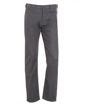 Mens Jeans, Tonal Mid-Rise Grey Wash Denim