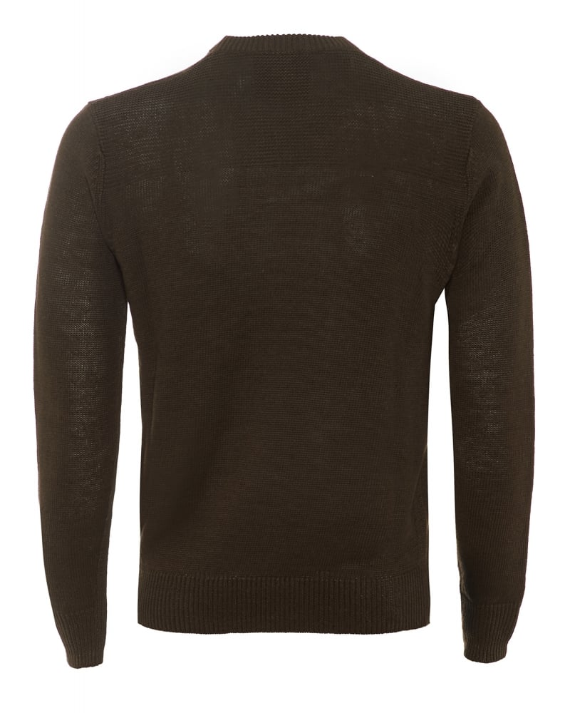 87cf1f00bb2 Mens Jumper Crew Neck Cotton Blend Olive Green Sweater