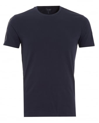 Mens Logo Sleeve Navy Blue T-Shirt