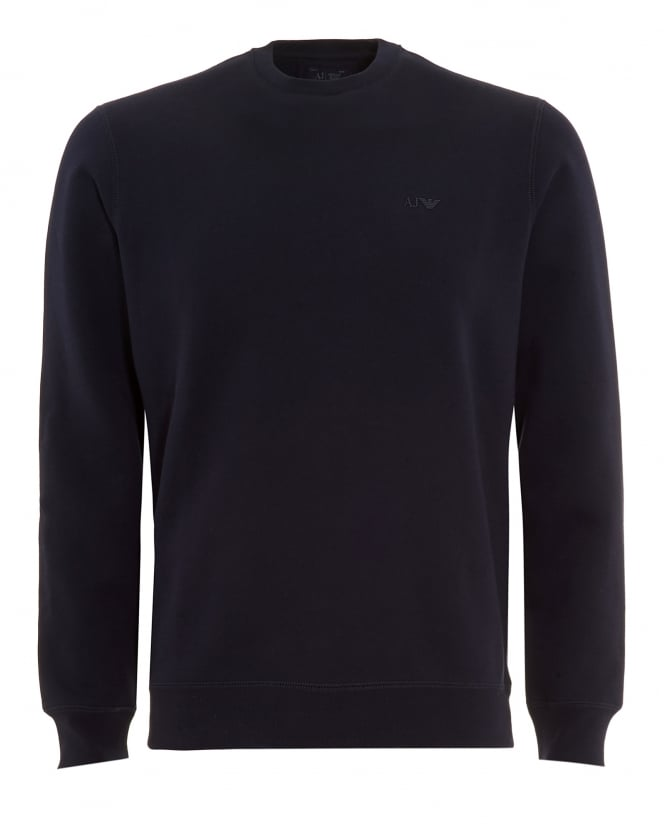 Armani Jeans Mens Navy Blue Crew Neck Sweatshirt
