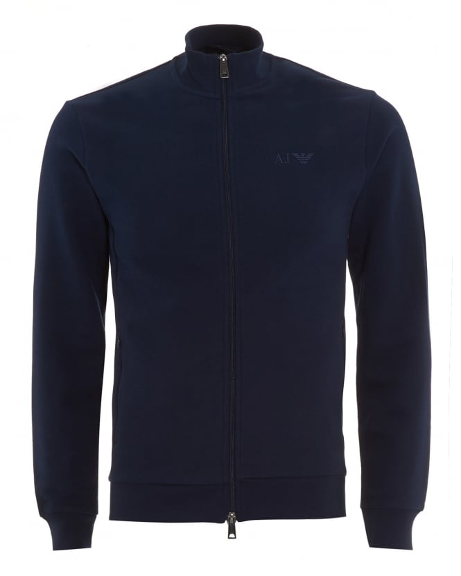 Armani Jeans Mens Navy Blue Full Zip Sweatshirt