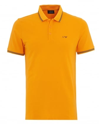 Mens Orange Tipped Polo Shirt