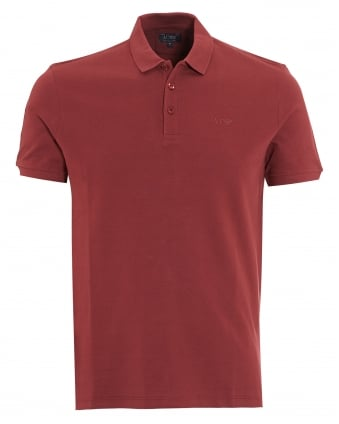 Mens Polo Shirt Plain Burgundy Red Muscle Fit Polo