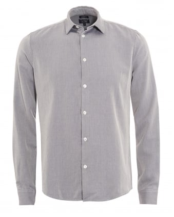 Mens Slim Fit Light Grey Zig Zag Shirt