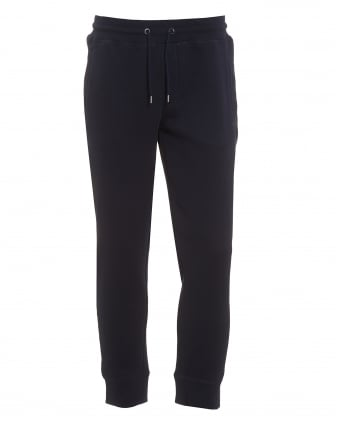 Mens Sweatpants, Cuffed Drawstring Navy Blue Trackpants