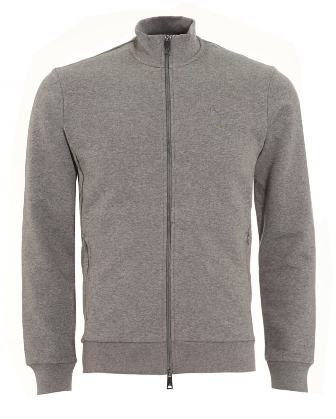 Armani Jeans Mens Sweatshirt, Grey Zip Track Top