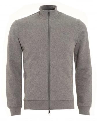Mens Sweatshirt, Grey Zip Track Top