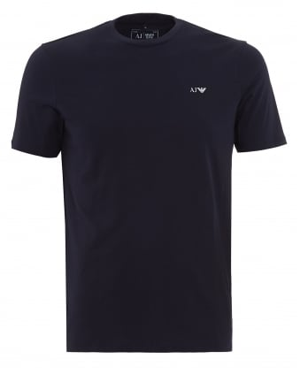 Mens T-Shirt, Navy Blue Logo Tee