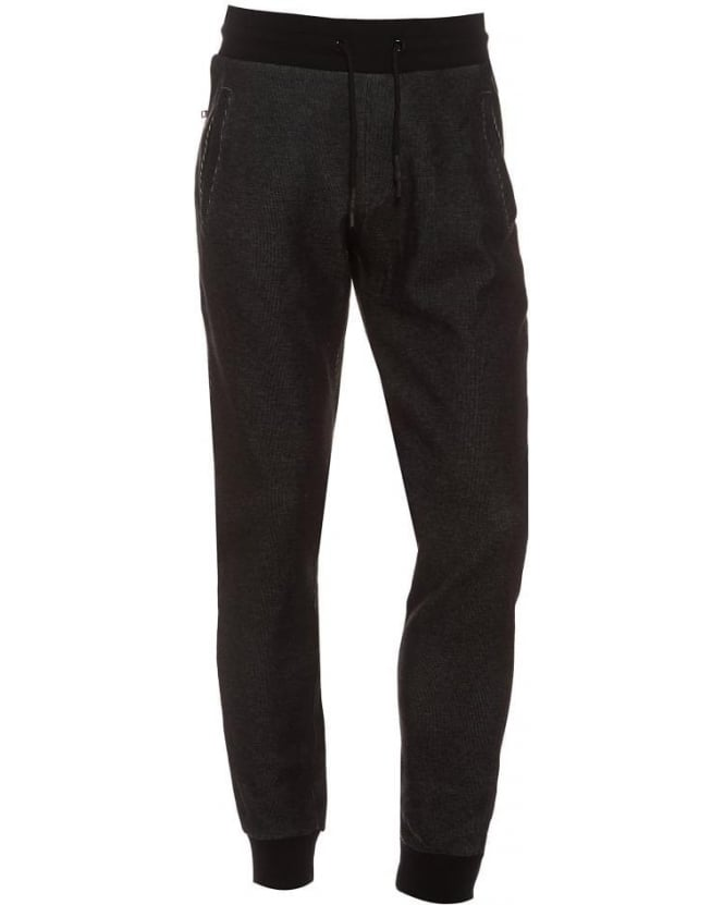 Armani Jeans Mens Track Pants Tapered Fit Eagle Badge Charcoal Trackpant