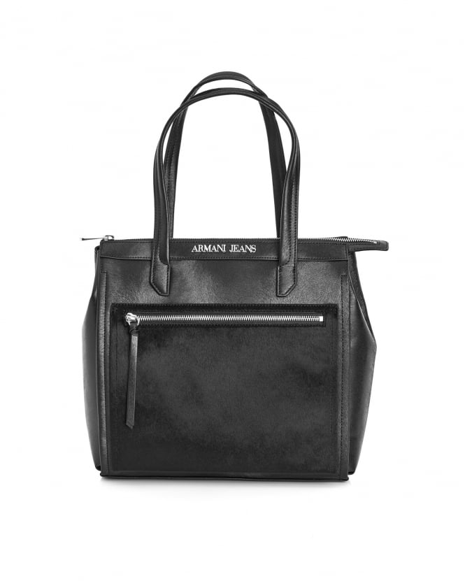 Armani Jeans Womens Bag, Pony Hair Eco Leather Tote