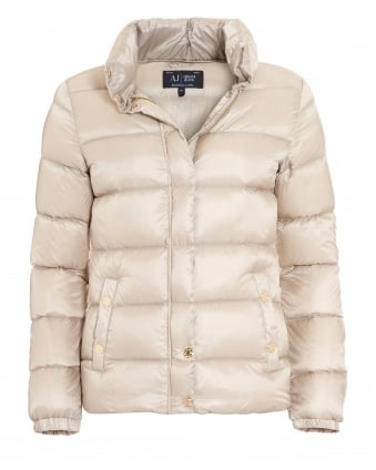 Womens Gold Coat, Lightweight Quilted Puffa Jacket